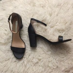 Audrey Brooke Black Heeled Sandals